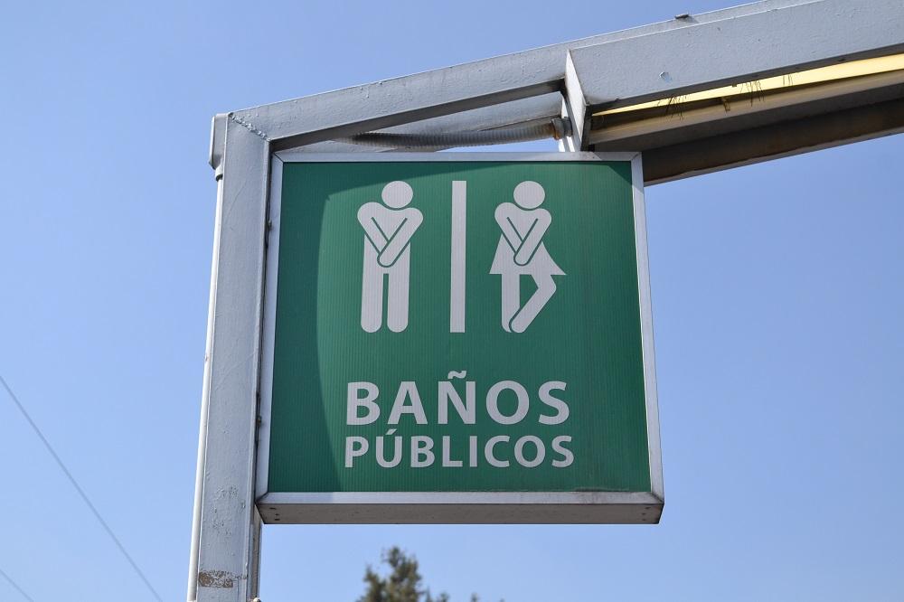 メキシコのトイレ標識の写真