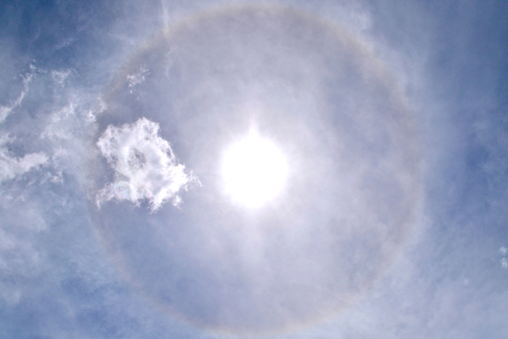 光の輪ハロ(2019・9・10)の写真