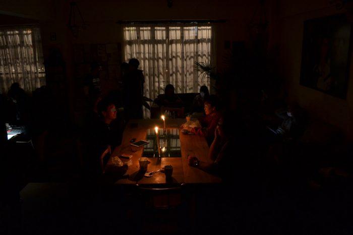 サンフェルナンド館の停電の写真