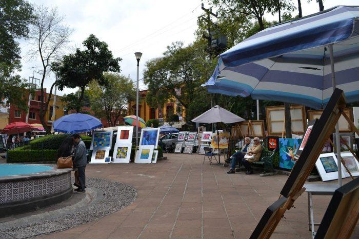 メキシコシティ土曜市絵画の写真
