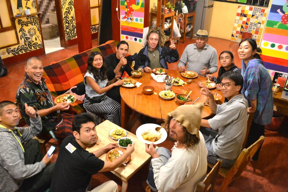 サンクリストバル日本人宿カサカサ(なつこ食堂初日)の写真