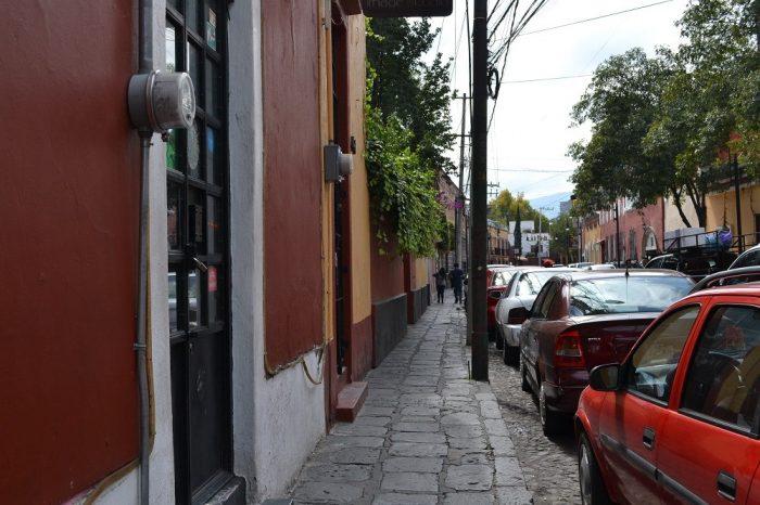 メキシコシティサンアンヘル地区町並みの写真