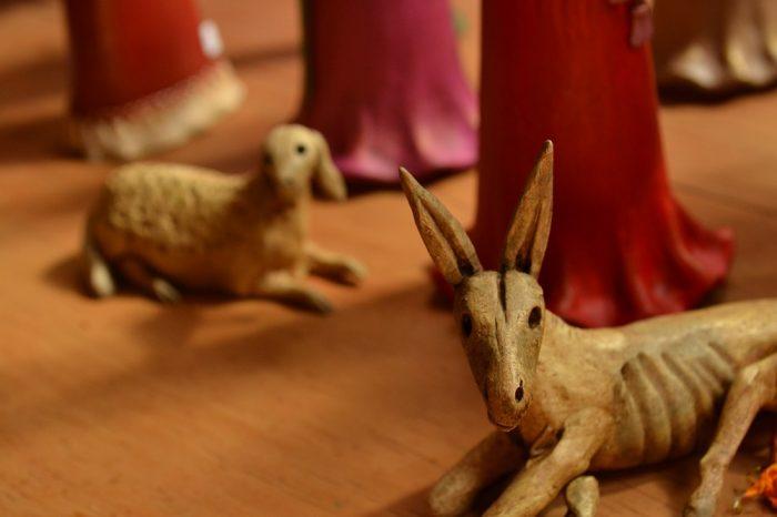 メキシコシティサンアンヘルの家具屋骸骨動物の写真
