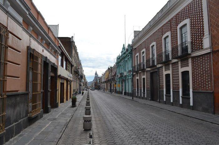 メキシコプエブラの町並み2の写真