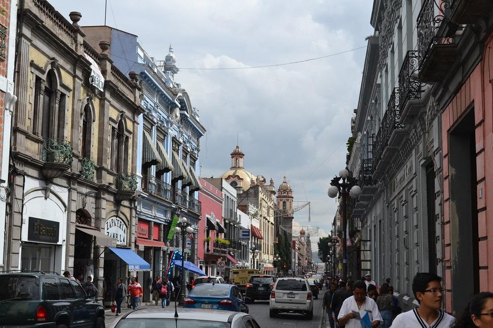 メキシコプエブラの美しい町並みの写真