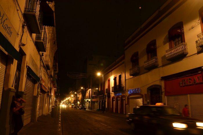 プエブラ歴史地区の夜景2の写真