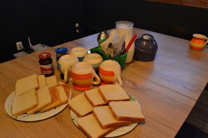 202hostalの朝食の写真