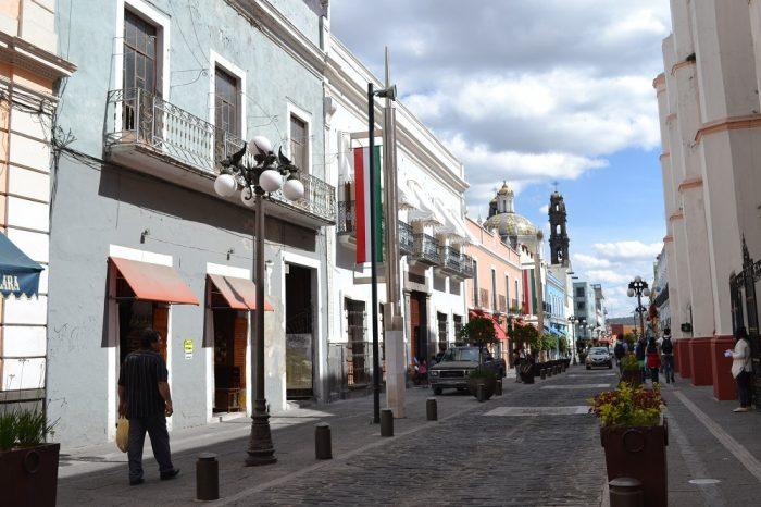メキシコプエブラのお洒落な町並みの写真