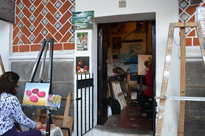 メキシコプエブラ芸術地区の個室の写真