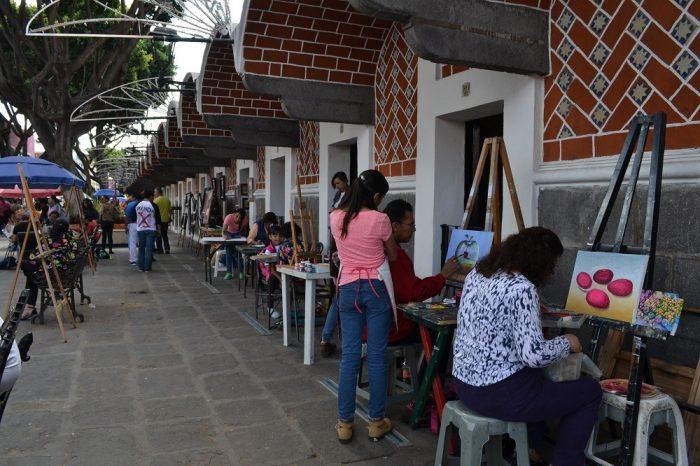 メキシコプエブラ芸術地区の建物の写真