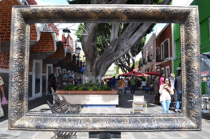 メキシコプエブラ芸術地区の額縁の写真
