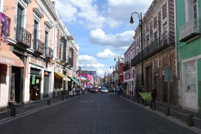 メキシコプエブラのお洒落な町並み4の写真