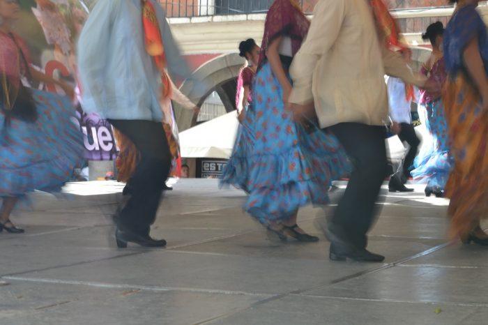 メキシコの伝統舞踊ステップの写真