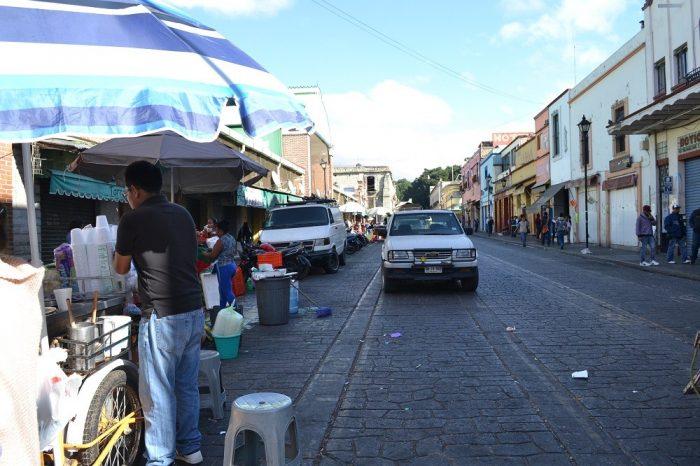 メキシコ・オアハカのソカロ広場周辺店舗の写真