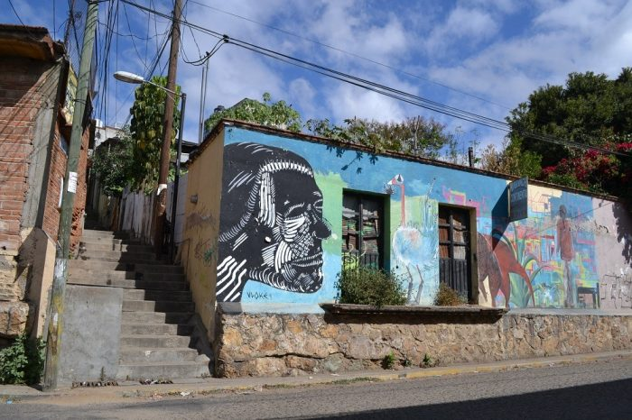 メキシコ・オアハカの壁画の写真