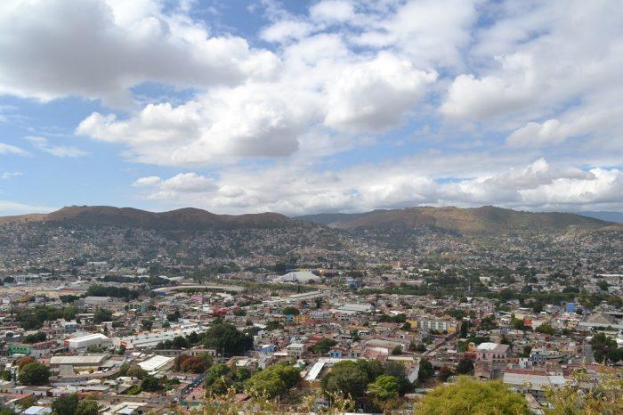 メキシコ・オアハカの町全体の景色2の写真