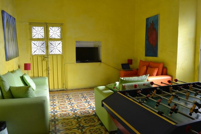 Casa de don Pabloの共有スペース(ソファ)の写真
