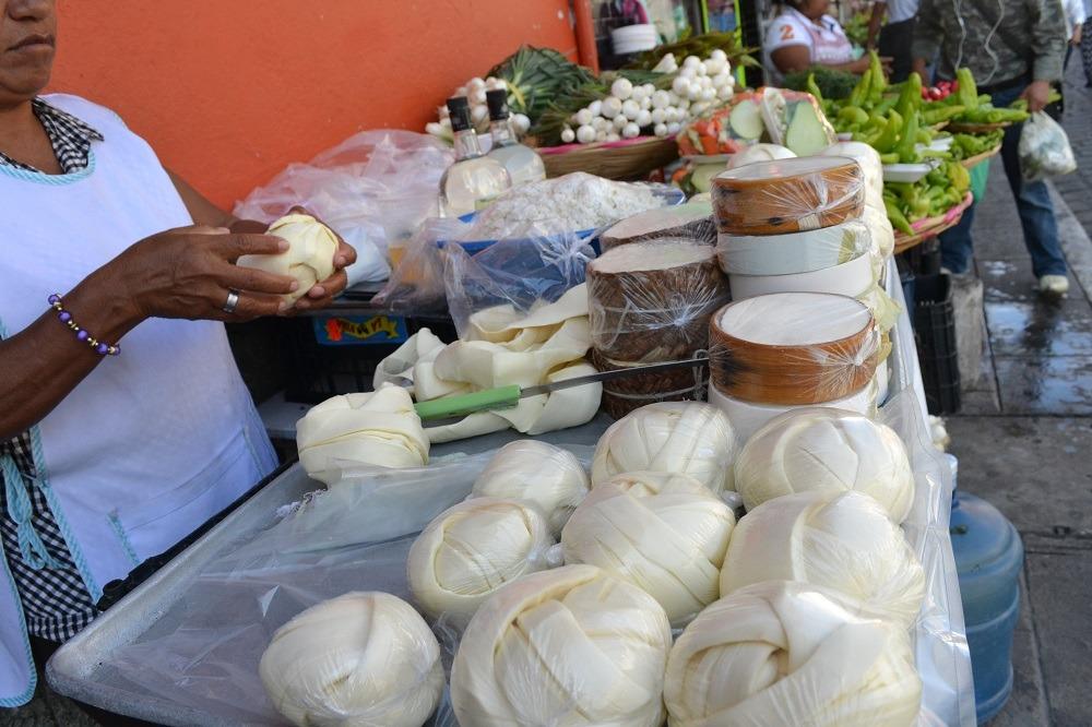 オアハカチーズ売り場の写真