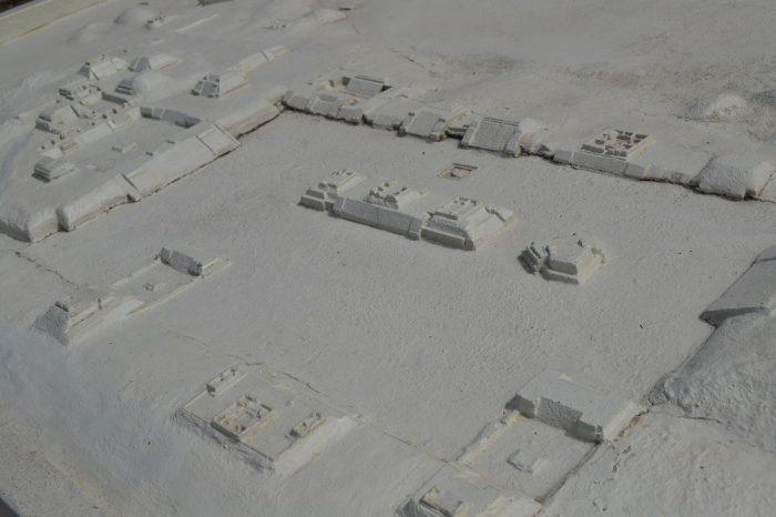 モンテ・アルバン遺跡の模型の写真