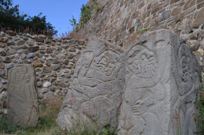 モンテ・アルバン遺跡石彫の写真