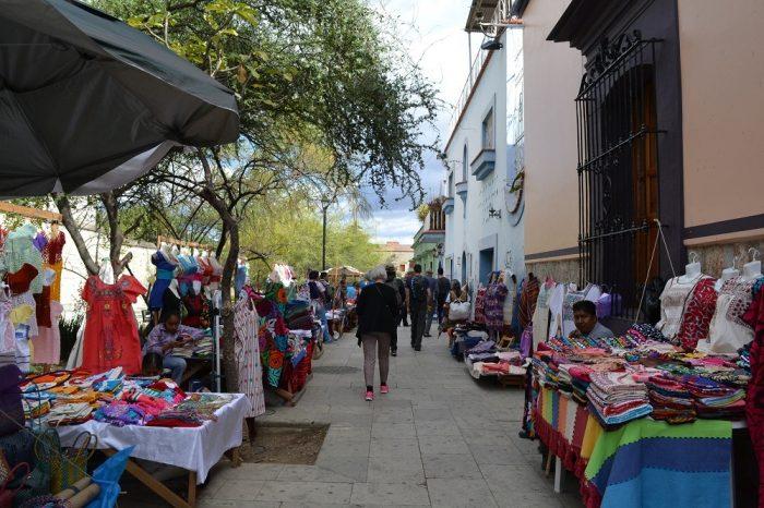 メキシコ・オアハカの土産物屋の写真