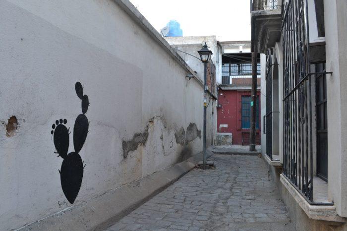 メキシコ・オアハカの民家の落書きの写真