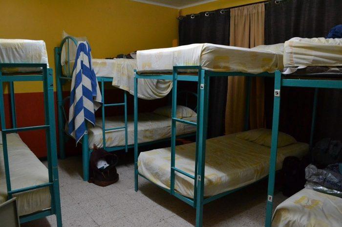 メキシコ・オアハカの安宿Pochonのドミトリー部屋の写真
