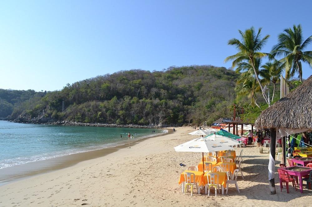 メキシコ・ウアトゥルコのビーチの写真