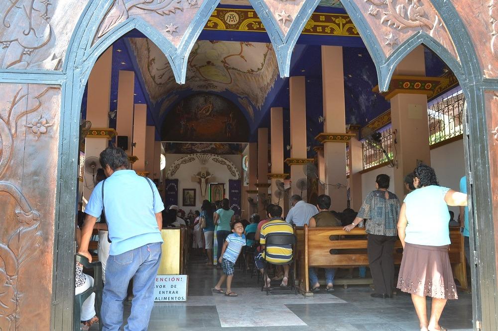 メキシコ・ウアトゥルコの町並み(教会内)の写真