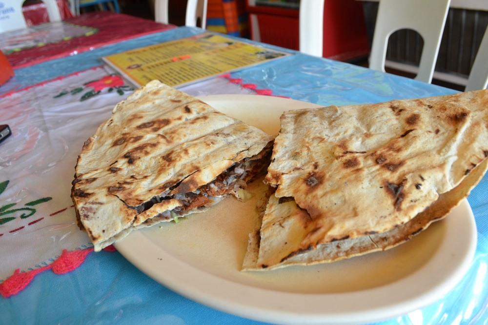メキシコ・ウアトゥルコで食べた料理の写真
