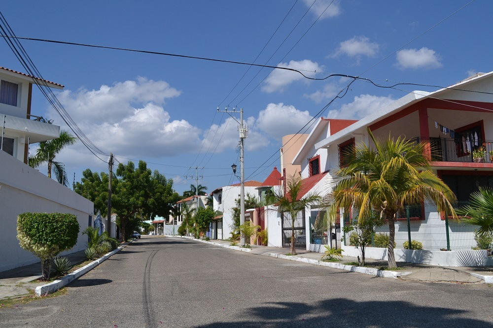 メキシコ・ウアトゥルコの町並み(高級住宅街)の写真