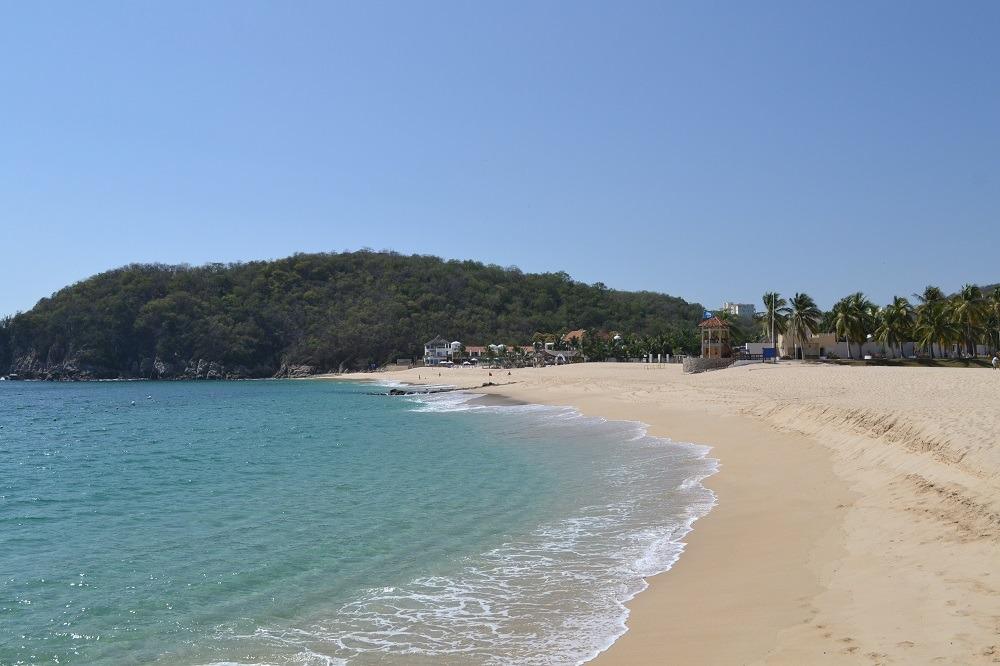 メキシコ・ウアトゥルコのプライベートビーチの写真