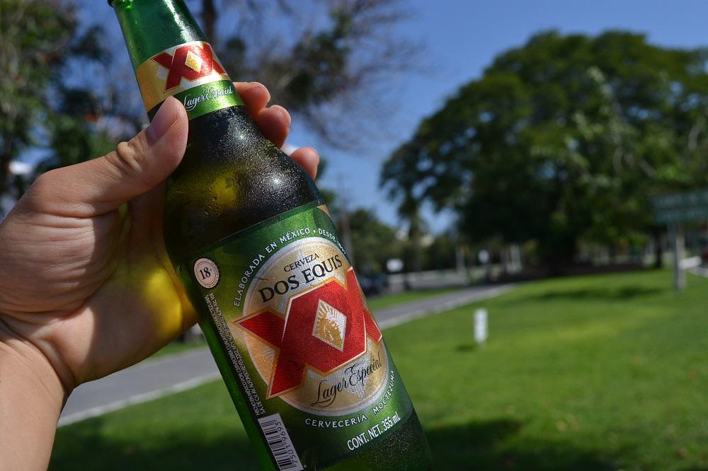 メキシコ・ウアトゥルコで飲んだビールの写真