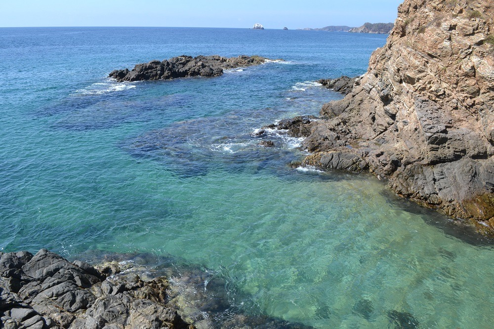 メキシコ・シポリテの綺麗な海(プラヤアモーレ)の写真