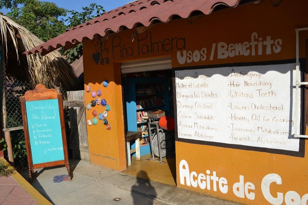 メキシコ・シポリテの福祉施設Pina palmeraの入り口の写真