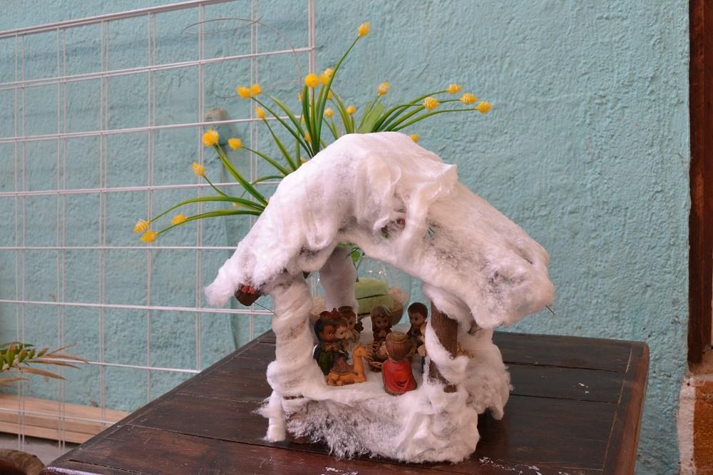 メキシコのクリスマス飾り(雪の家)の写真