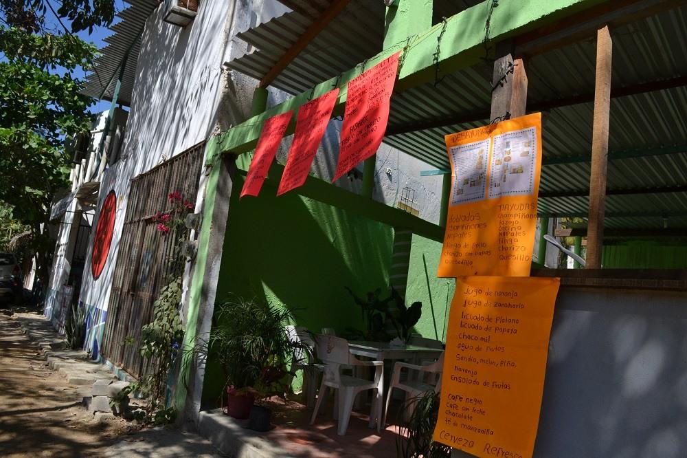 メキシコ・シポリテの軽食屋の写真