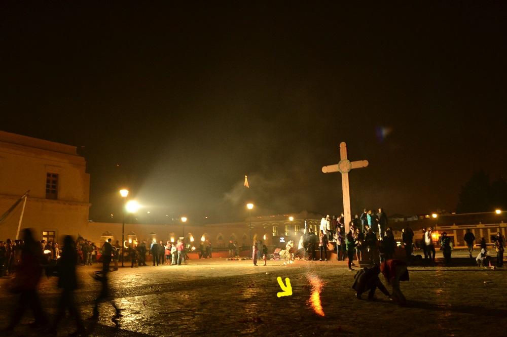 メキシコの大晦日(ロケット花火)の写真