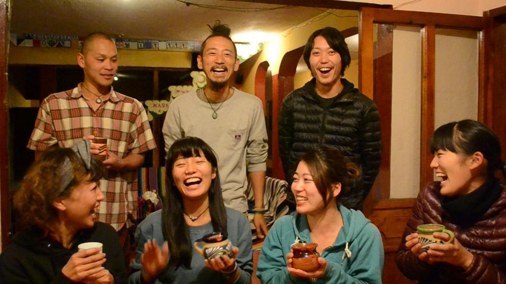 サンクリストバル・デ・ラス・カサスの日本人宿カサカサ(皆の笑顔)の写真