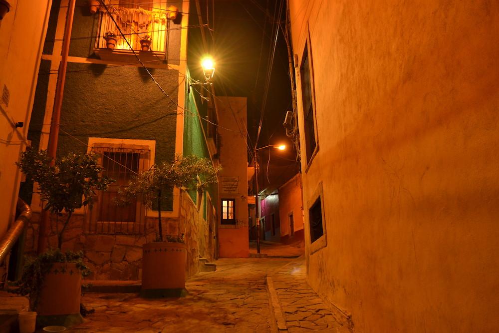 メキシコ・グアナファトの夜景1の写真