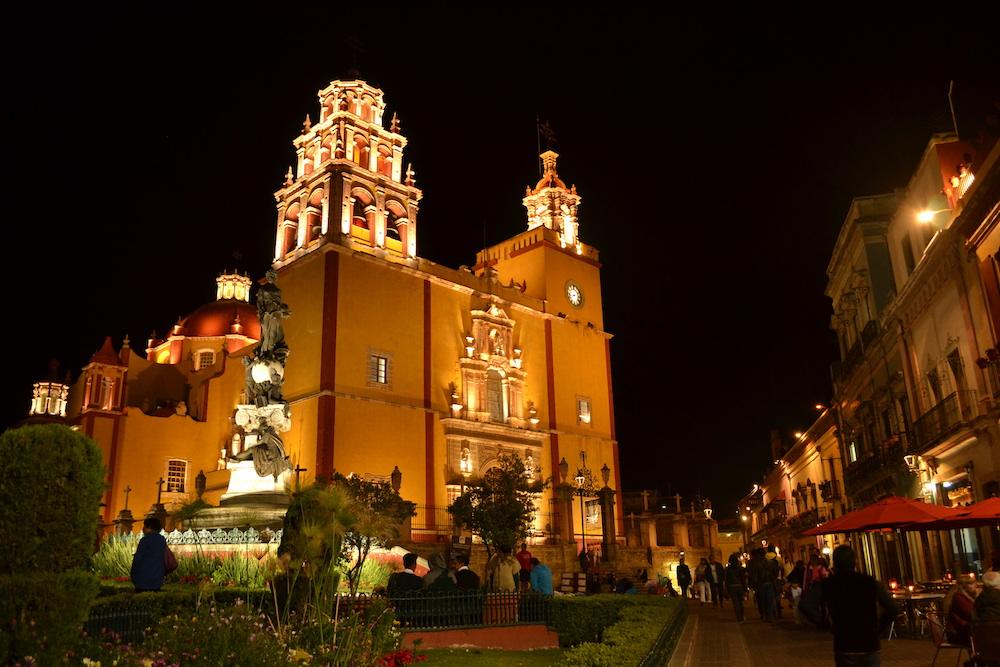 メキシコ・グアナファトの夜景(教会)の写真