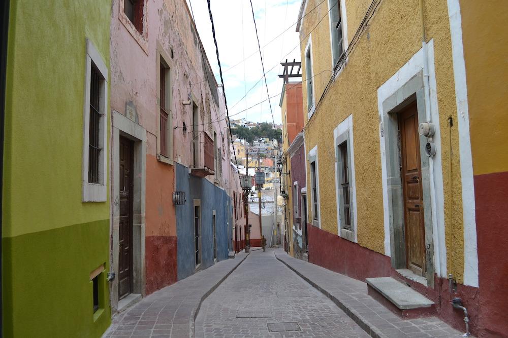 メキシコ・グアナフアトの住宅地の写真