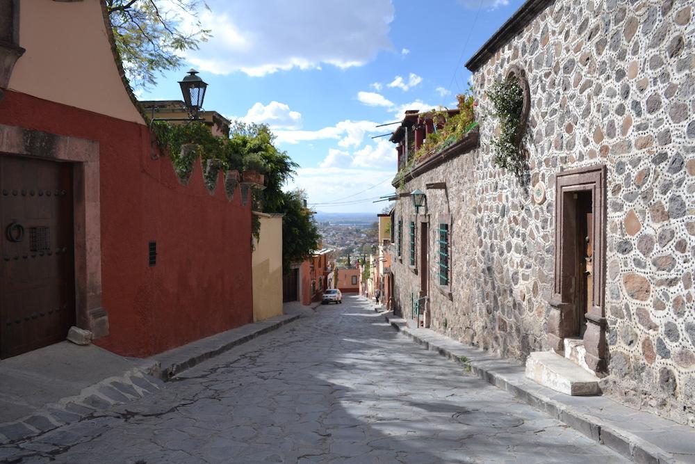 メキシコ・サンミゲルの町並みの写真