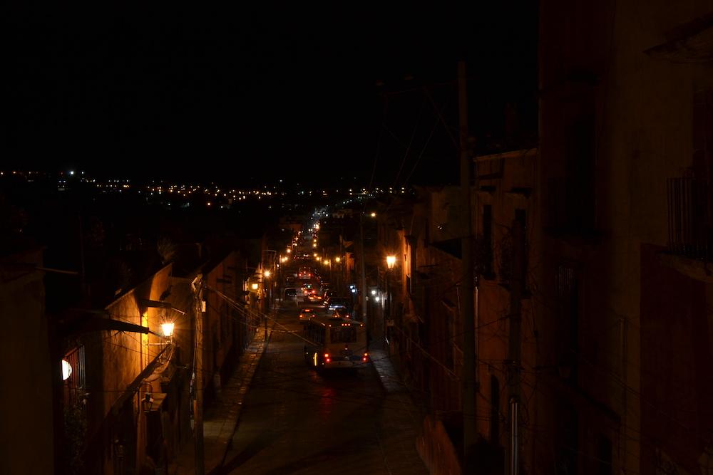メキシコ・サンミゲルの町並み(夜景)の写真