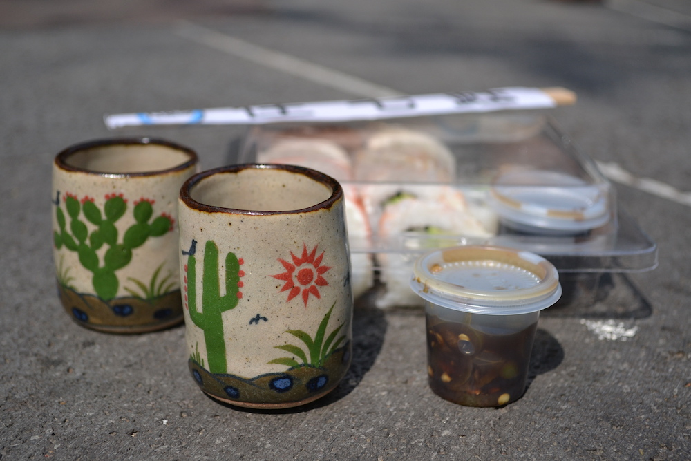 メキシコシティの土曜市で買った商品の写真