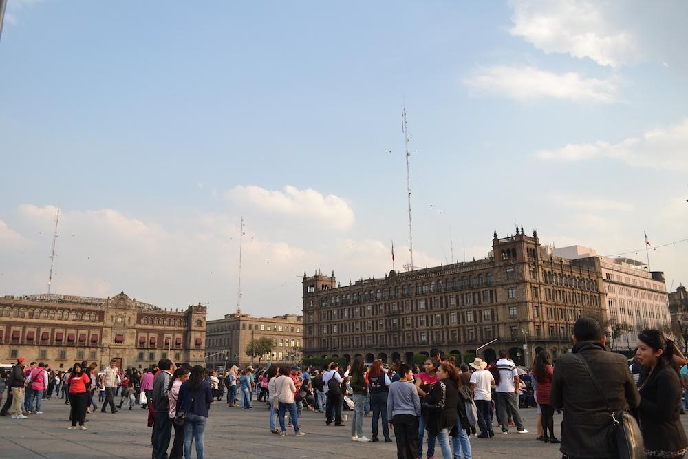 メキシコシティ・ソカロ広場の写真