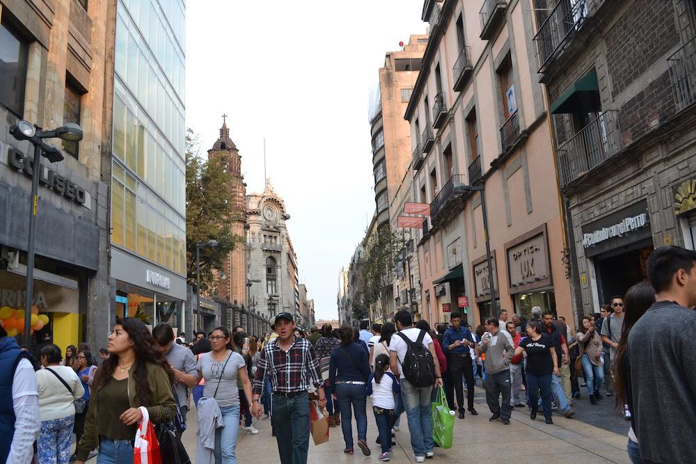 メキシコシティの町並みの写真