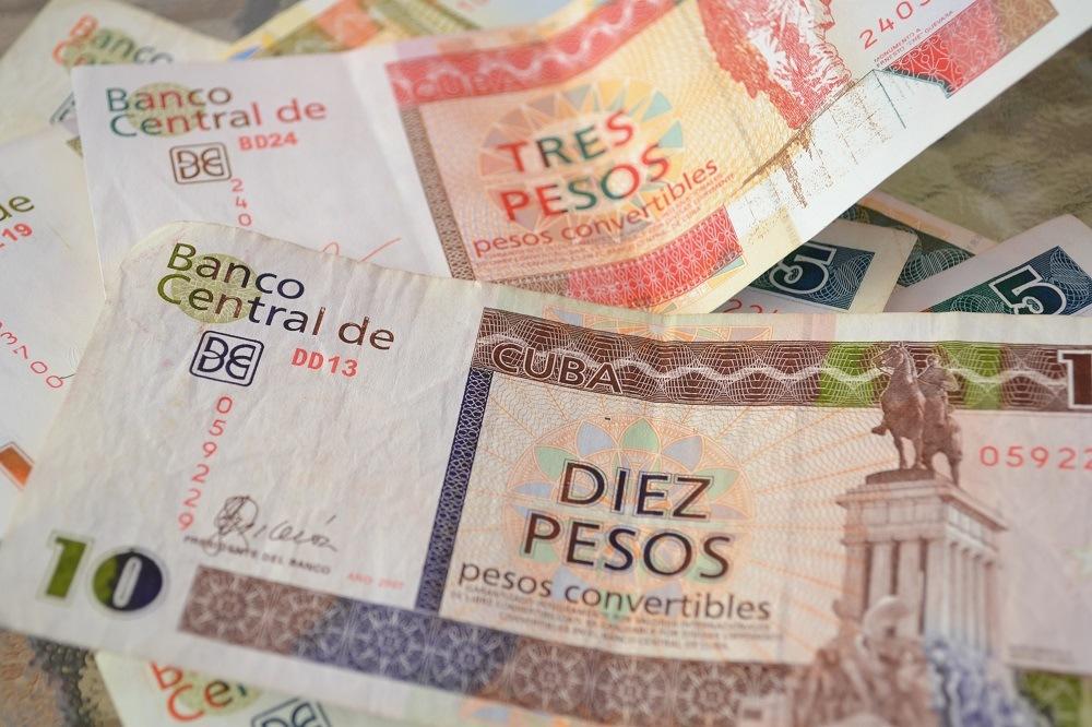 キューバの紙幣(通過)ペソの写真