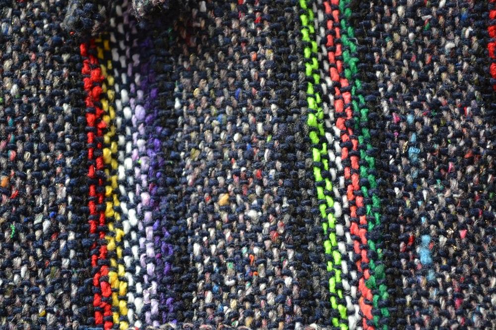 メキシカンパーカー(黒・虹色)アップ2