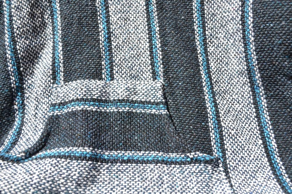 メキシカンパーカー(青・紺)アップ